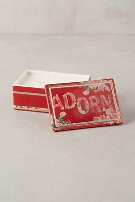 Anthropologie TRINKET BOX Candle Illume ADORN Peppermint Martini Ceramic Lid NWT
