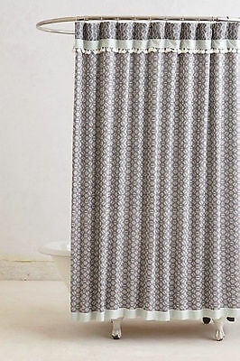 Curtains Ideas anthropology shower curtain : New NWT Anthropologie Tasseled Dayton Fabric Shower curtain Gray ...