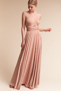 Bridesmaid Dress, BHLDN - Ginger Convertible Dress - Blush/Pink