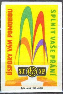 Czechoslovakia matchbox label 2036 Lipnik 1961 Uspory vam pomohdu - Bydgoszcz, Polska - Czechoslovakia matchbox label 2036 Lipnik 1961 Uspory vam pomohdu - Bydgoszcz, Polska