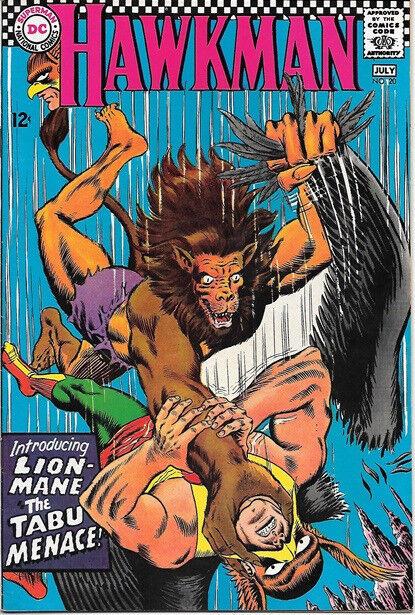 Hawkman Comic Book #20 DC Comics 1967 VERY FINE