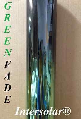 "20"" x 10' Window Tint Film Green Fade Dark ( half Gren half black ) Intersolar®"
