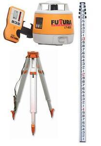 Ensemble niveau au laser FUTTURA/TAPCON LT800 avec Trépier, Règle et mire de chantier