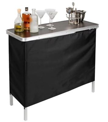 Mini Bar Portable Folding Table Home Cocktail Party Stand Drink Patio Tailgate