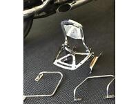 Harley sportster backrest and pannier mounts