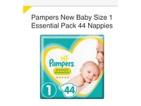 2x BABY PAMPERS SIZE 1