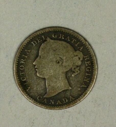 Canada Silver 10 Cents 1894  VG   Victoria     A1360