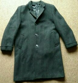 Vintage heavy pure wool coat doorman bouncer XL