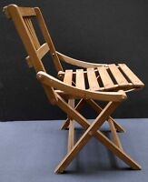 Vintage kid's folding wood chair with back