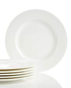 Lenox Classic White Dinner & Salad Plates Set of 12 Fine Bone China Made in USA