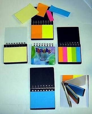 Lot Of 24 Misprint Assorted Sticky Colored Notesheets