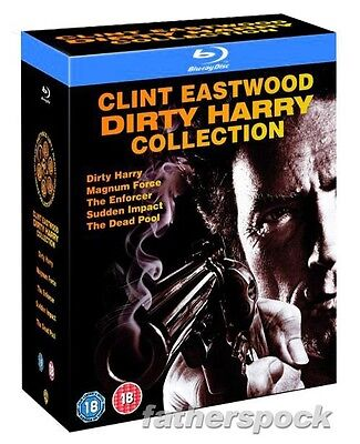 Dirty Harry Collection  Blu Ray 5 Disc Set  Clint Eastwood Complete All 5 Movies