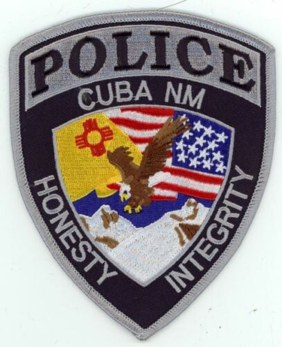 CUBA POLICE NEW MEXICO NEW SHOULDER PATCH SHERIFF EAGLE