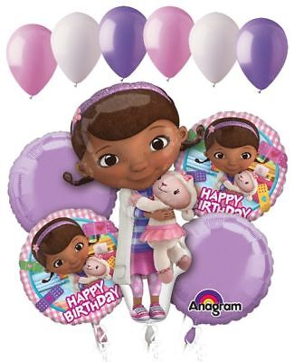 11 pc Doc Mcstuffins Happy Birthday Balloon Bouquet Party Disney Doctor Girl Vet](Doc Mcstuffins Birthday Party)