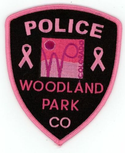 COLORADO CO WOODLAND PARK POLICE PINK BREAST CANCER NEW SHOULDER PATCH SHERIFF