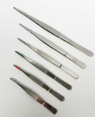 Surgical Tweezers Forceps 6 Pcs Set