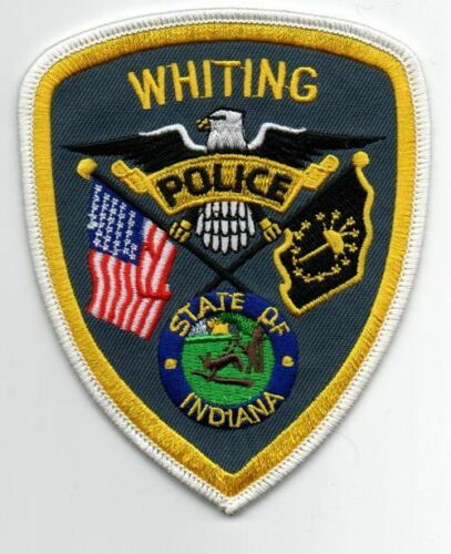 INDIANA IN WHITING POLICE NEW PATCH SHERIFF