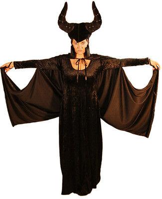 Halloween/Fee Märchen / Evil Step-Mother Maleficent Kostüm alle Damen Größen
