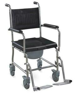 New in Box Commode - 2 in 1 wheelchair with foot-rest and commode