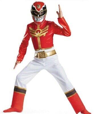Power Rangers Costume Boy's size 4-6 NeW Megaforce RED Ranger Costume + Mask