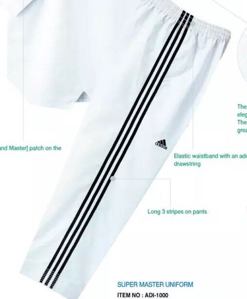 BRAND NEW Adidas Super Master Taekwondo Uniform Size 6 PANTS ONLY