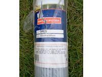 Grey plastic bamboo roller blind