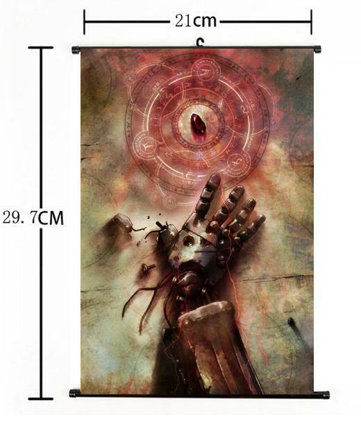 Hot Japan Anime Cosplay Fullmetal Alchemist Wall Scroll Art Poster Home Decor A+