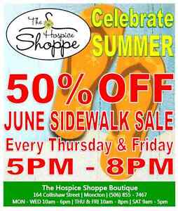 June Sidewalk Sale: Thursday/Friday 5pm - 8pm