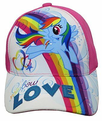 My Little Pony Girls' Rainbow Dash Baseball Cap – Size 4-14 [6014] - My Little Pony Hat