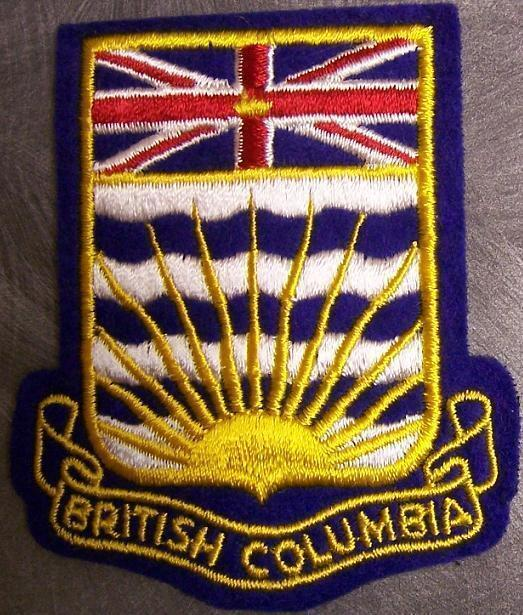 Embroidered International Patch Provincial flag Britsh Columbia Canada NEW