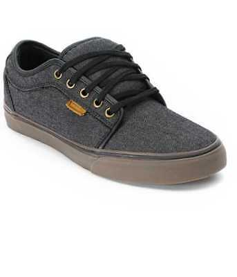NEW MEN'S 6.5 7 8 VANS CHUKKA LOW OXFORD CANVAS / BLACK / GUM SKATE