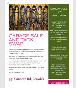 Garage Sale and Tack Swap