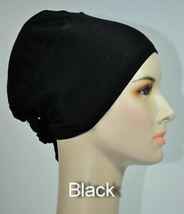 Bonnet Cap Hijab/Head Under Scarf with Ties - Underscarf Bone Islamic