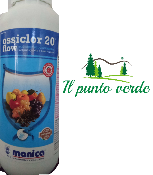 OSSICLOR 20 FLOW MANICA ANTICRITTOGAMICO A BASE DI RAME AGRICOLTURA BIOLOGICA 1L