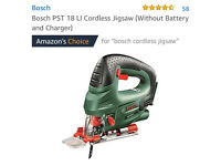 Bosch cordless jigsaw and Router
