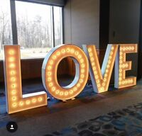 LOVE Marquee sign for rent