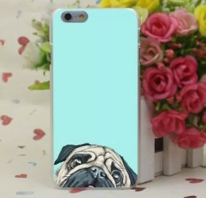 Pug cute print hard IPhone Case for iPhone 7 Plus