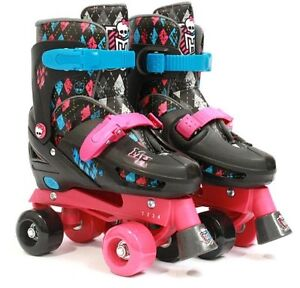 Monster High Quad Roller Skates Adjustable Sizes Fits US Girls Sizes 10-13 New