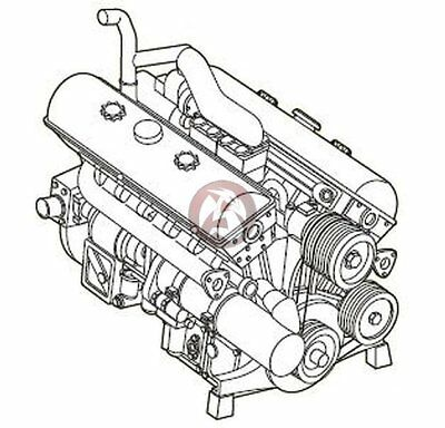 CMK 1/35 Maybach HL 120 TRM German WWII Tank Engine (StuG, Nashorn, etc.) 3109