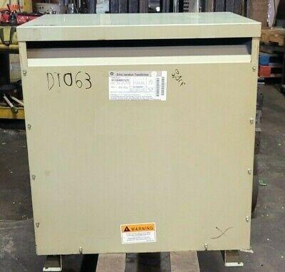 Ge 75 Kva Drive Isolation Transformer 230 X 230133 3 Phase 60 Hz 9t23b4007g29