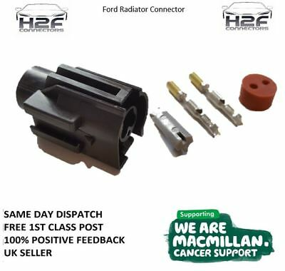 Ford 2 Pin Radiator Fan Switch Connector Sierra, Focus, Escort, Zetec + FREEPOST