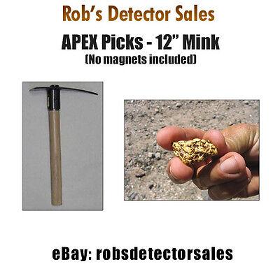 Apex 12-inch Mink Gold Prospecting Gold Mining Pick - Gold Prospecting Pick