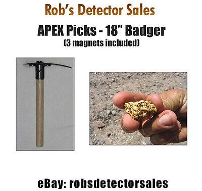 Apex 18 Badger Prospecting Pick - Gold Prospecting Pick For Gold Nuggets