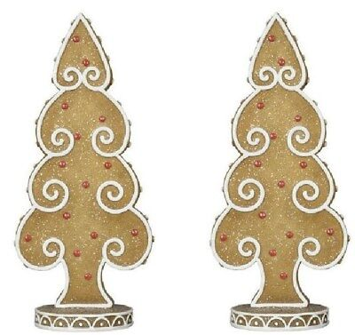 Set of 2 Sugared Gingerbread Christmas Tree 9