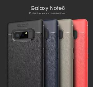 Galaxy Note 8 Litchi Stria Leather Pattern  Case
