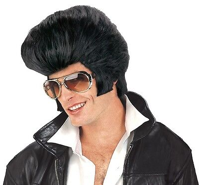 Oversize Rock N Roll Elvis Wig Adult Costume - Rock N Roll Costume