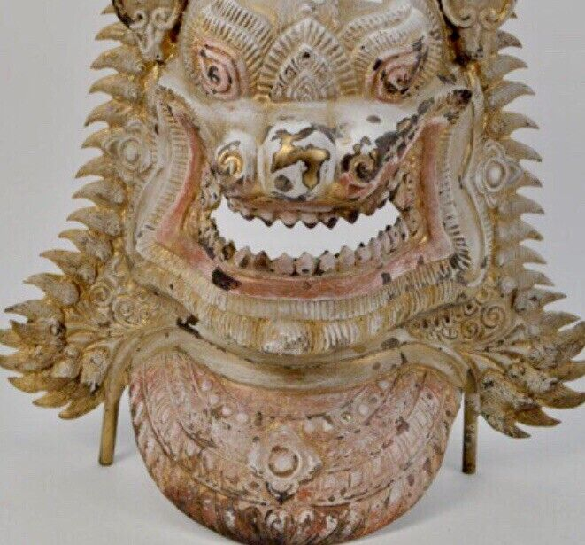 Antique Asian Bronze Mask