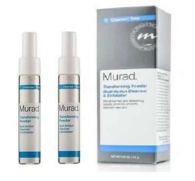 Dual Action-cleanser (2X Murad Transforming Powder Dual-Action Cleanser & Exfoliator 0.5 Oz-New in Box)