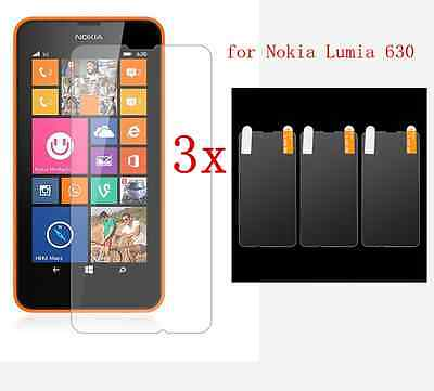 3x Anti-Glare LCD Screen Protector Guard Shield Cover FOR Nokia Lumia 630 635 ()