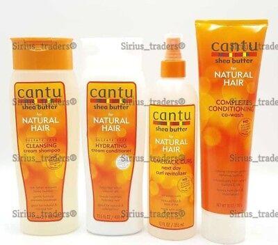 Cantu Shea Butter Sulfate free Shampoo+Conditioner+Come Back Curl +Co Wash Cream